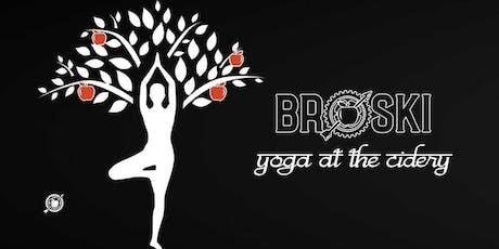 Yoga at Broski Ciderworks- September 22, 2019 tickets