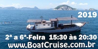 Passeio Exclusivo de Saveiro (2ª a 6ª-Feira)TARDE 2019 Marina da Glória,Rio