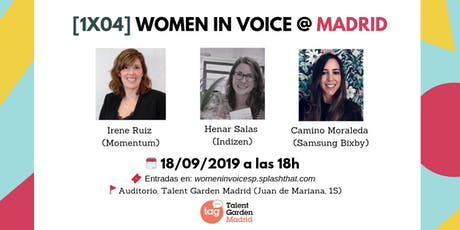 [1x04] Women in Voice @ Madrid entradas