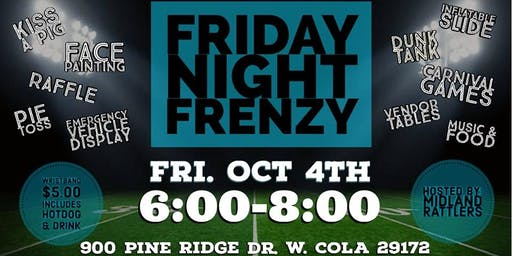 Midland's  Friday Night Frenzy Vendor Table Reservation