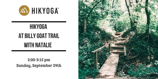 Hikyoga® at Billy Goat Trail with Natalie