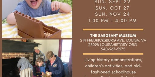 Free Family Day, presented by Louisa County Historical Society