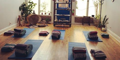 New Moon. Yin Yoga. Cacao Ceremony. Sound Bath