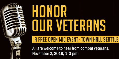 2019 Veterans Day Open Mic Town Hall tickets
