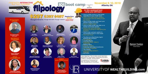 Flipology 101: The Boot Camp with Ramon Tookes November 8-10, 2019