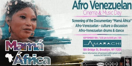 """Mama Africa"" documentary screening with director Benito Marquez tickets"