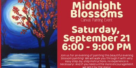 Midnight Blossoms Canvas Painting Event tickets