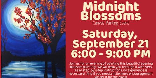 Midnight Blossoms Canvas Painting Event