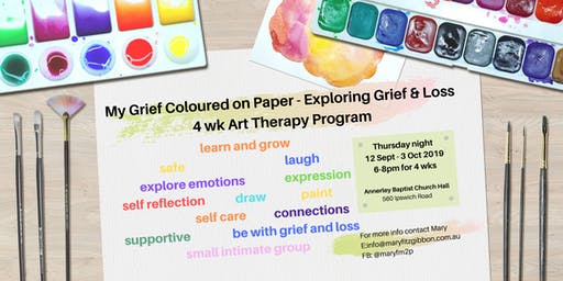 My Grief on Paper - 4 Week Art Therapy Group