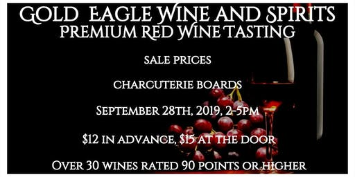 Gold Eagle Premium Red Wine Tasting