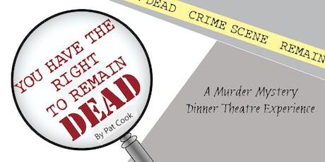 Dinner Theater Oct 5 2019 tickets