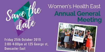 Women's Health East 2019 Annual General Meeting