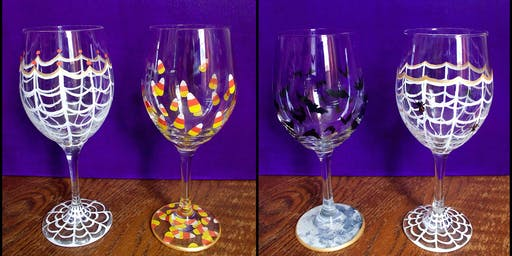 "Adult Open Paint (18yrs+) ""Halloween Glasses"""