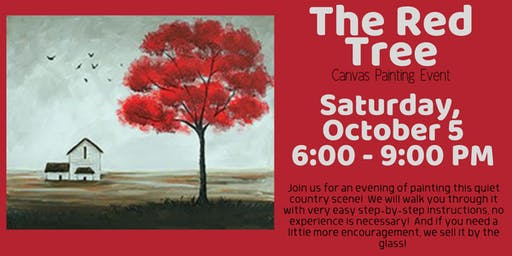 The Red Tree Canvas Painting Event