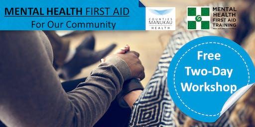 Wed 16th & Fri 18th October - Mental Health First Aid (2-Day Workshop)