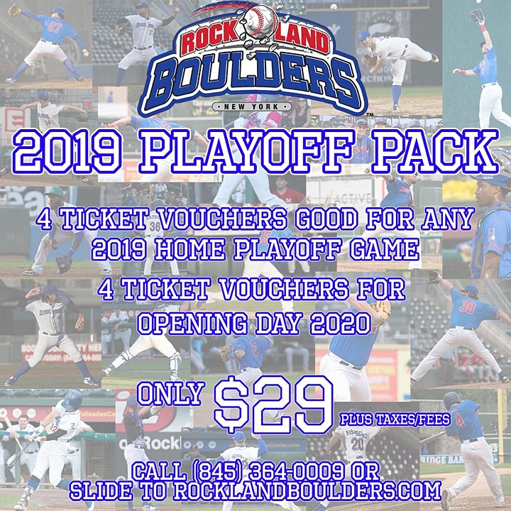 Rockland Boulders Playoff Pack image