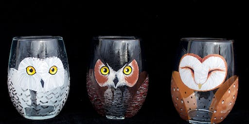 "Adult Open Paint (18yrs+) ""Little Companion Owl Glasses"""