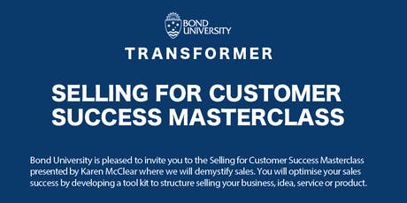 Selling for Customer Success Masterclass tickets