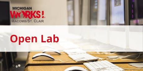 Open Lab (Warren) tickets