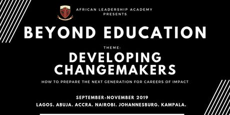Beyond Education 2019 Conference (Abuja) - Developing Changemakers tickets