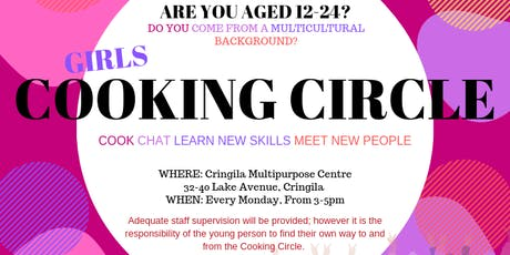 Girls Cooking Circle - FREE tickets