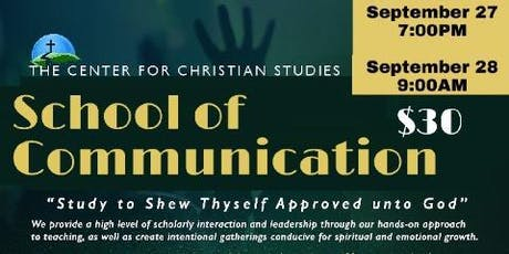 CENTER for CHRISTIAN STUDIES - School of Communication tickets