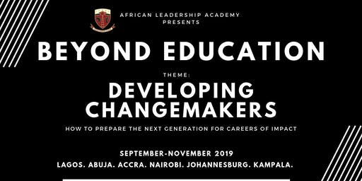 Beyond Education 2019 Conference (Johannesburg) - Developing Changemakers