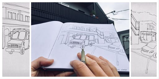 Learn the art of travel sketching with pencil and pen