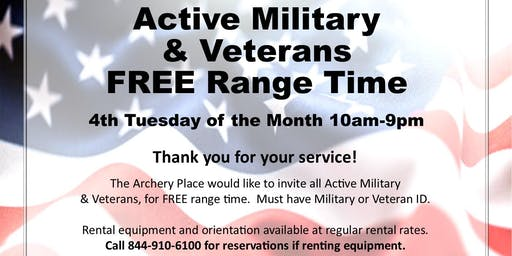 Active Military & Veterans Free Range Time