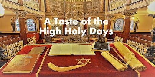A Taste of the High Holy Days