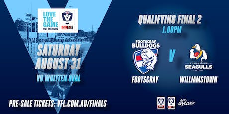 2019 VFL Qualifying Final 2 - Footscray Bulldogs vs Williamstown Seagulls tickets