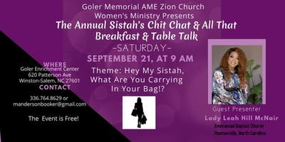 Annual Chit Chat & All That Sistah's Breakfast & Table Talk