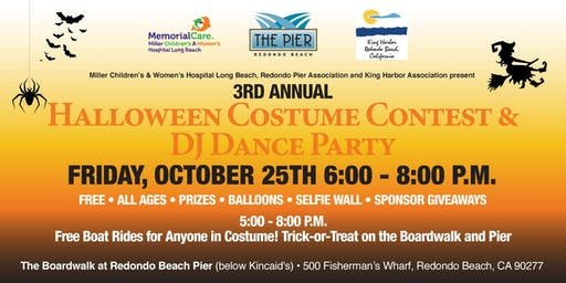 3rd Annual Halloween Costume Contest & DJ Dance Party on the Redondo Pier