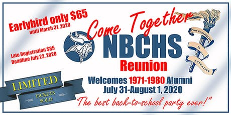 NBCHS Come Together Reunion 2020 tickets