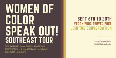 Women of Color SPEAK OUT! East Coast Tour