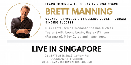 Brett Manning LIVE in Singapore - A Singing Masterclass tickets