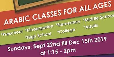Arabic classes starting Sep 22