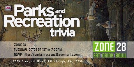 Parks & Rec Trivia at Zone 28 tickets