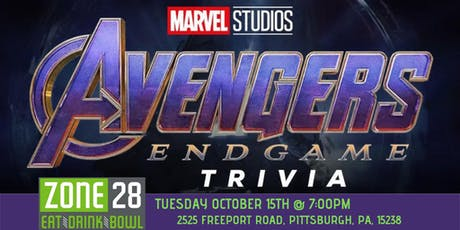 Avengers: Endgame Trivia at Zone 28 tickets