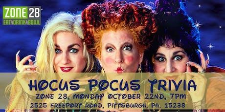 Hocus Pocus Trivia at Zone 28 tickets