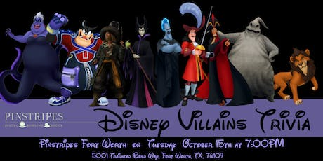 Disney Villains Trivia at Pinstripes Fort Worth tickets