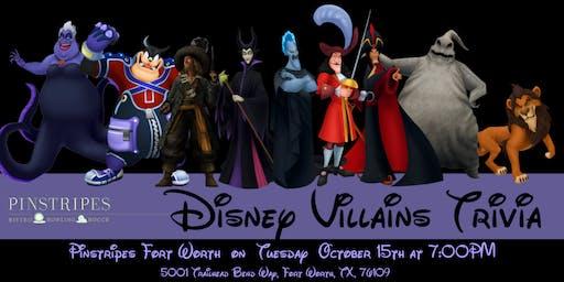 Disney Villains Trivia at Pinstripes Fort Worth