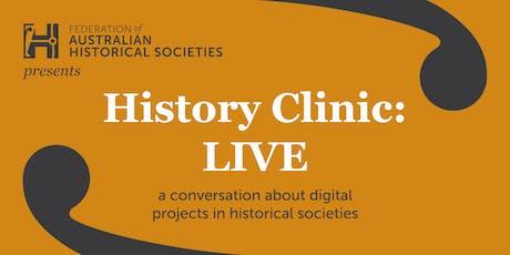 History Clinic Live: Digital Historical Societies tickets
