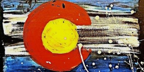 Paint Wine Denver CO Splattered Flag Fri Nov 1st 6:30pm $35 tickets