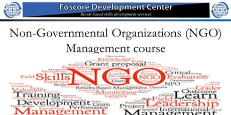 Non-Governmental Organizations (NGO) Management course tickets