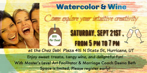 You Are Invited to Watercolor & Wine Women's Circle