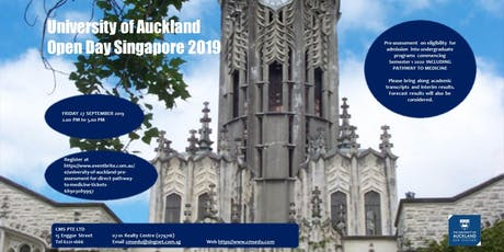 UNIVERSITY OF AUCKLAND OPEN DAY SINGAPORE tickets