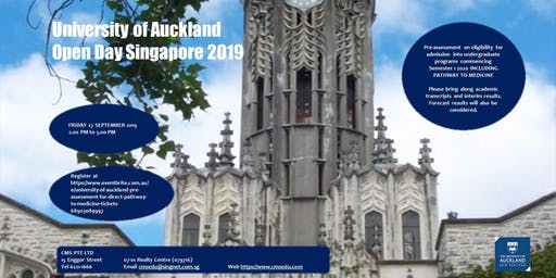 UNIVERSITY OF AUCKLAND OPEN DAY SINGAPORE