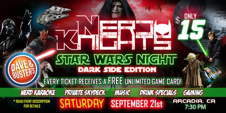 Star Wars Night & Karaoke Party at Dave & Buster's tickets
