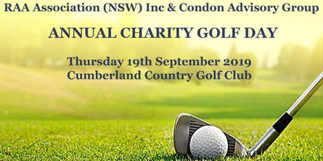 RAA Association (NSW) Inc. & Condon Advisory Group ANNUAL CHARITY GOLF DAY tickets